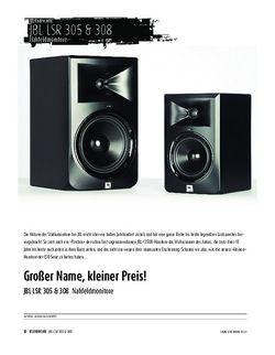 Sound & Recording JBL LSR-305/308 - Nahfeldmonitore