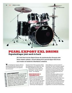 Sticks Pearl Export EXL Drums