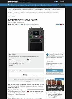 MusicRadar.com Korg Mini Kaoss Pad 2S