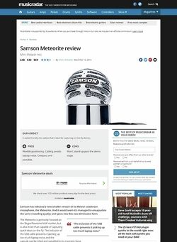 MusicRadar.com Samson Meteorite