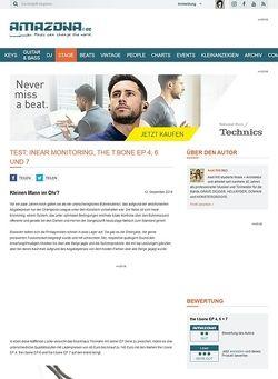 Amazona.de Test: Inear Monitoring, the t.bone EP 4, 6 und 7