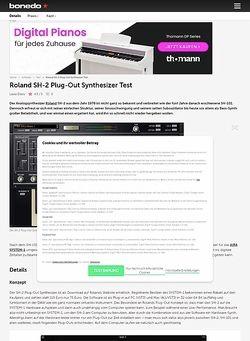 Bonedo.de Roland SH-2 Plug-Out Synthesizer