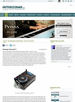 Amazona.de Test: Numark NDX500, CD-Player