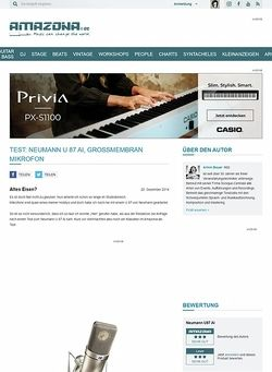 Amazona.de Test: Neumann U 87 Ai, Großmembran Mikrofon