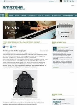 Amazona.de Test: Magma Riot DJ-Backpack, Dj-Bag