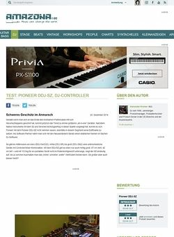 Amazona.de Test: Pioneer DDJ-SZ, DJ-Controller
