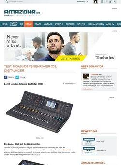 Amazona.de Test: Midas M32, Digitalkonsole
