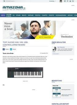 Amazona.de Test: Alesis VI49, V49, USB-Controllerkeyboard