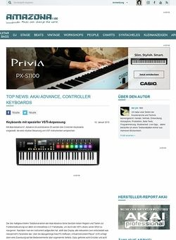 Amazona.de Top News: Akai Advance, Controller Keyboards