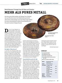 Drumheads Meinl Byzance Vintage Pure Hi-Hats und Crashes