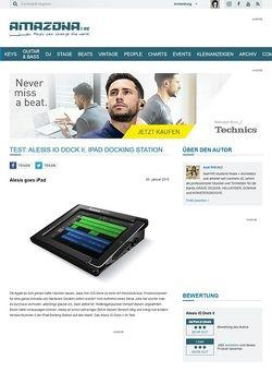 Amazona.de Test: Alesis iO Dock II, iPad Docking Station