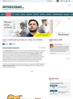 Amazona.de Test: Chapman Guitars ML-1 BEA, E-Gitarre