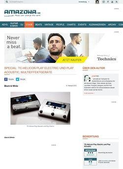 Amazona.de Special: TC-Helicon Play Electric und Play Acoustic, Multieffektgeräte