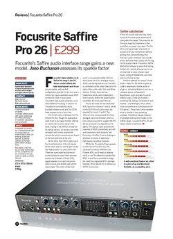 Future Music Focusrite Saffire Pro 26
