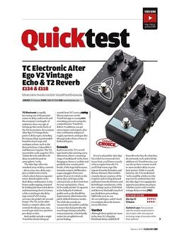 Guitarist TC Electronic T2 Reverb & Alter Ego V2