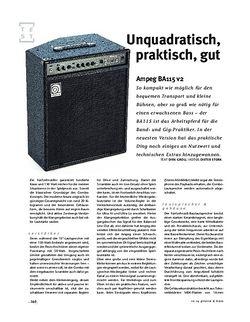 Gitarre & Bass Ampeg BA115 v2, Bass-Combo