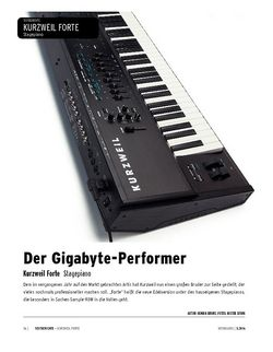 Keyboards Kurzweil Forte - Stagepiano mit Extras