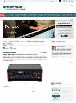 Amazona.de Test: Line6 Amplifi TT, Gitarren-Preamp und Interface