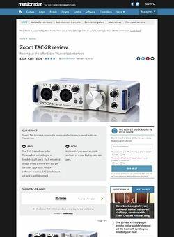 MusicRadar.com Zoom TAC-2R