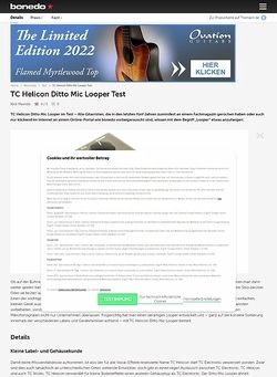 Bonedo.de TC Helicon Ditto Mic Looper Test Preview