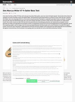 Bonedo.de Marcus Miller V7 4-Saiter