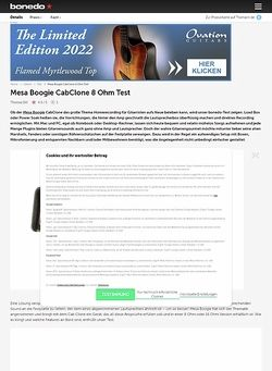 Bonedo.de Mesa Boogie CabClone 8 Ohm