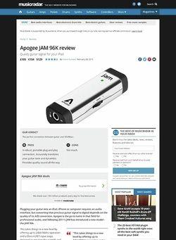 MusicRadar.com Apogee JAM 96K