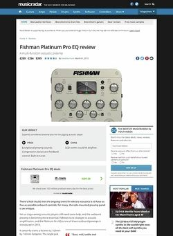 MusicRadar.com Fishman Platinum Pro EQ