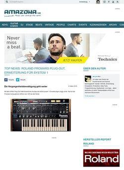 Amazona.de Top News: Roland Promars Plug-Out, Erweiterung für System 1