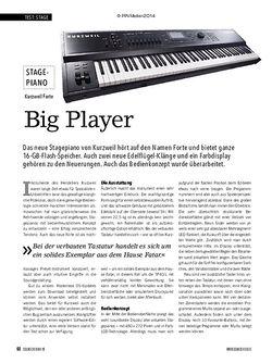 Soundcheck Kurzweil Forte