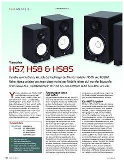 KEYS Yamaha HS7, HS8 & HS8S