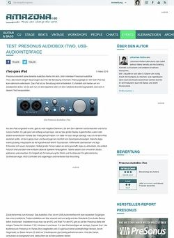Amazona.de Test: Presonus AudioBox iTwo, USB-Audiointerface