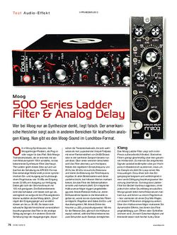 KEYS Moog 500 Series Ladder Filter & Analog Delay