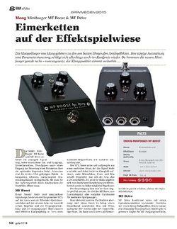 Guitar Moog Minifooger MF Boost & MF Drive