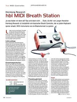 KEYS Hornberg Research hb1 MIDI Breath Station