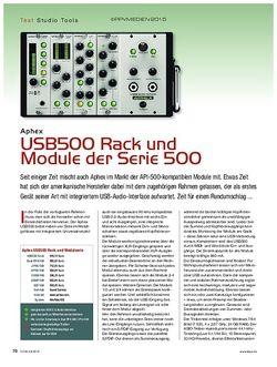 KEYS Aphex USB500 Rack und Module der Serie 500