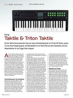 KEYS Korg Taktile & Triton Taktile