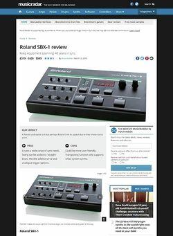 MusicRadar.com Roland SBX-1