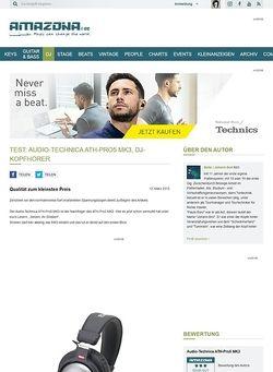 Amazona.de Test: Audio-Technica ATH-Pro5 MK3, DJ-Kopfhörer