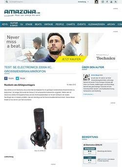 Amazona.de Test: sE Electronics 2200a IIC, Großmembran-Mikrofon