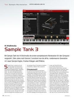 KEYS IK Multimedia Sample Tank 3