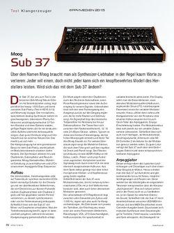 KEYS Moog Sub 37