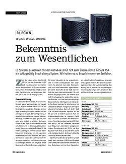 Soundcheck LD Systems GT 12A und GT SUB 15A