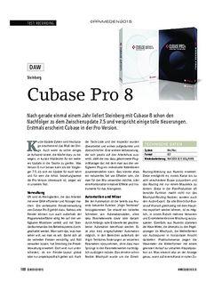 Soundcheck Cubase Pro 8