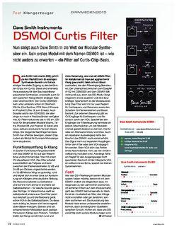 KEYS Dave Smith Instruments DSM01 Curtis Filter
