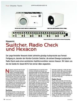 KEYS Nowsonic Switcher, Radio Check und Hexacon