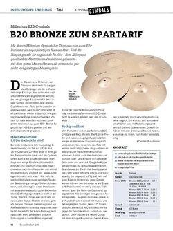 Drumheads Millenium B20 Becken