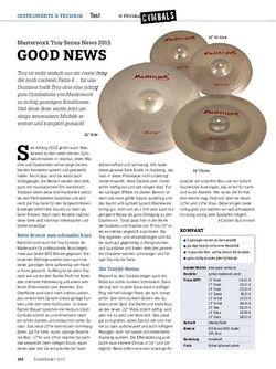 Drumheads Masterwork Troy Series News 2015