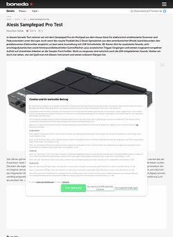 Bonedo.de Alesis Samplepad Pro Test