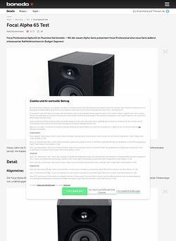 Bonedo.de Focal Alpha 65